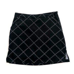 CORAL BAY Women's Black White Pattern Skirt Skort